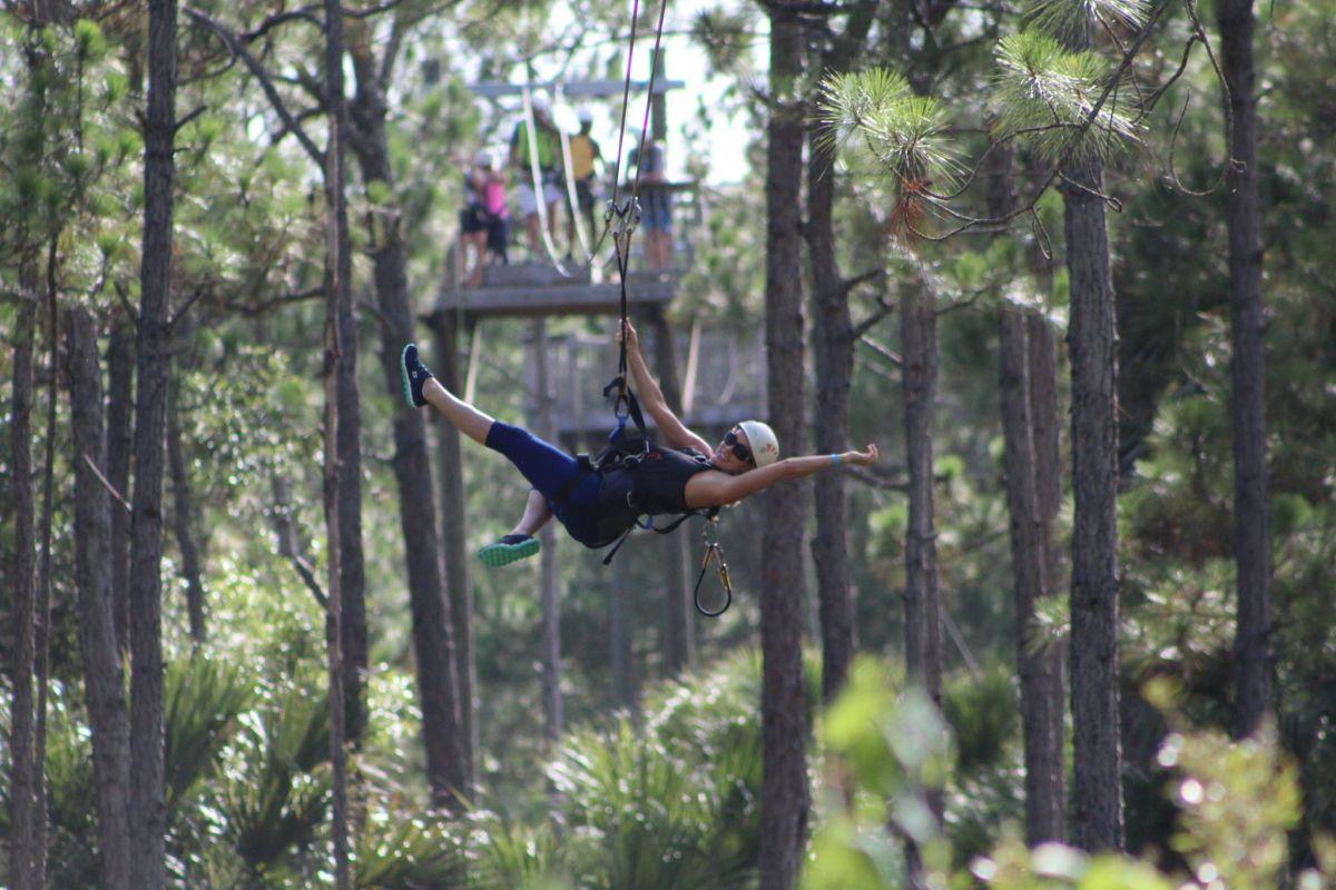 woman zip lining in woods   sportody blog 22 awesome adventures around orlando fl   sportody  rh   sportody
